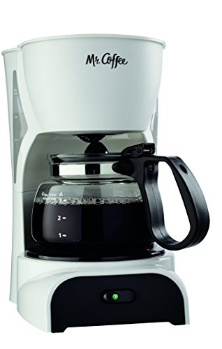 Mr. Coffee 4-Cup Coffee Maker, White - DR4-RB