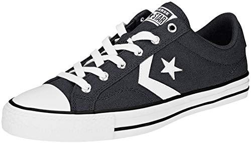 Converse Star Player Ox, Scarpe da Fitness Unisex-Adulto, Nero (Black/White/White 001), 38 EU