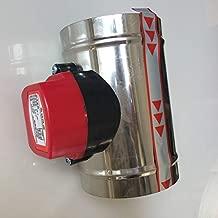 JOHNSTON 3-5 Inch Stainless Steel Hvac Electric Air Duct Motorized Damper Air Damper Valve For Ventilation Pipe Valve 220V Air Valve