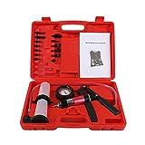 450823 Hand Held Car Automotive Brake Bleeder Fluid Vacuum Pump Tester Gauge Kit
