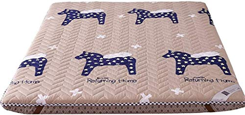 Futon-Matratzen Quilten Altes grobes Tuch Traditionelle japanische Futon Japanische Bettdünne Matratze Topper Waschbare Matratze (Farbe: Pegasus trip Größe: 90x200cm)