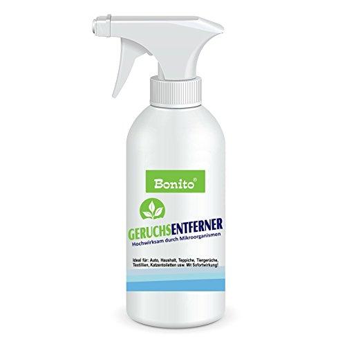Bonito | Bio Protector | 500 ml | Geruchsneutralisator | Geruchentferner | für Textilien, Schuhe, Auto & Haushalt | gegen organische Gerüche