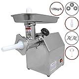 Hachoir à Viande Électrique Commercial Boucher Machine à Saucisse 850W Inox