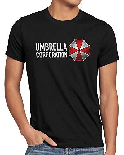 A.N.T. Umbrella Corp. Camiseta para hombre epidemia viral Zombie Negro S