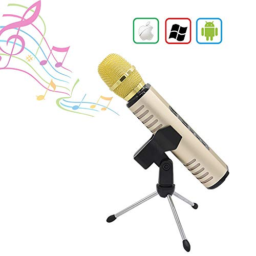 Review HLKYB Karaoke Microphone, Karaoke Microphone for Kids with Bluetooth Speaker, Microphone Kara...