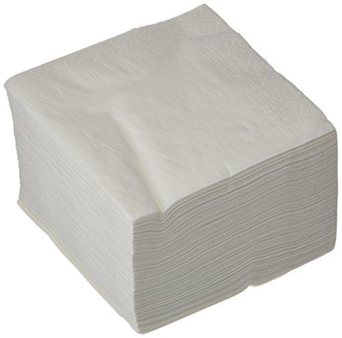 Bunzl 308531 - serviettes blanc 2 couches 30x30 - Pack de 100 unités
