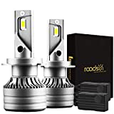 Roadsun H7 Bombillas LED para faros delanteros 60W 12000 LM Kit de conversión de faros LED superbrillantes 6500K Blanco frío IP68 Impermeable 2 piezas