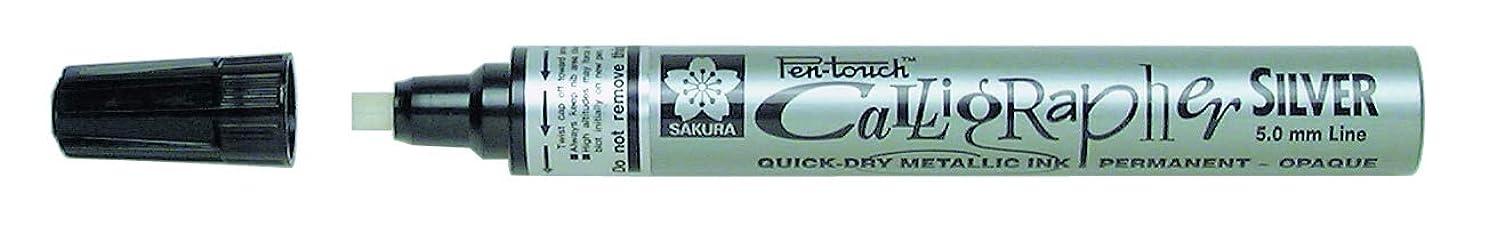 Sakura Pentouch Calligraphy Pen Med Silver