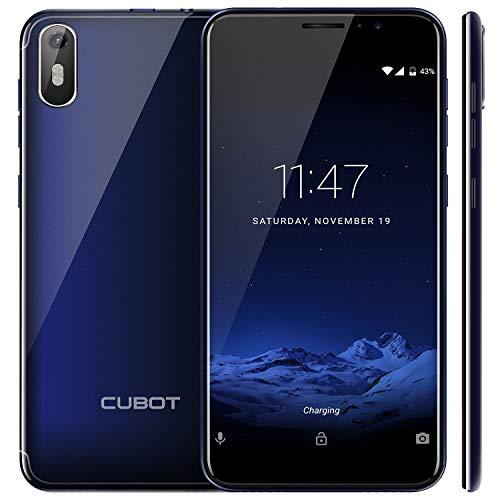 "CUBOT J5 (2019) Android 9.0 Dual SIM Smartphone ohne Vertrag, 5.5\"" (18:9) Touch Display, 2GB Ram+16GB interner Speicher, Quad-Core, 8MP Hauptkamera / 5MP Frontkamera und Face-Unlock Funktion (Blau)"