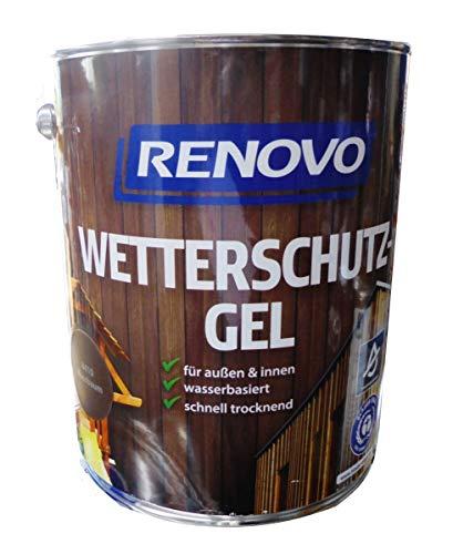 Renovo 5Ltr, Wetterschutz-Gel 8410 Nussbaum, wasserbasiert, für außen und innen