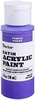 Darice 30062610 Satin Purple, 2 Ounces Acrylic Paint,