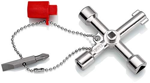 KNIPEX Schaltschrankschlüssel für gängige Schränke und Absperrsysteme (76 mm) 00 11 03