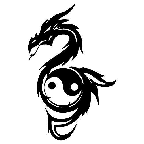 Personalidad Etiqueta Engomada del Coche Yin Yang Dragón Clásico Cultura China Accesorios...