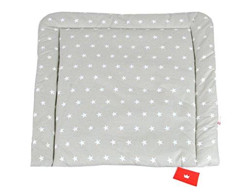 BABYLUX Wickeltischauflage Wickelauflage Baby Wickeltisch 50x70 70x70 80x70 (80 x 70 cm, 91 - Sterne (klein) Grau)