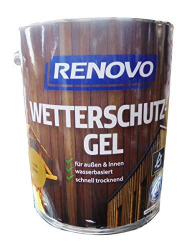Renovo 5Ltr, Wetterschutz-Gel 1410 Eiche, wasserbasiert, für außen und innen