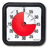 Time Timer Original Grande 30x30 cm; Temporizador visual de 60 minutos - Reloj de cuenta atrás para el aula o para reuniones con niños y adultos (negro)