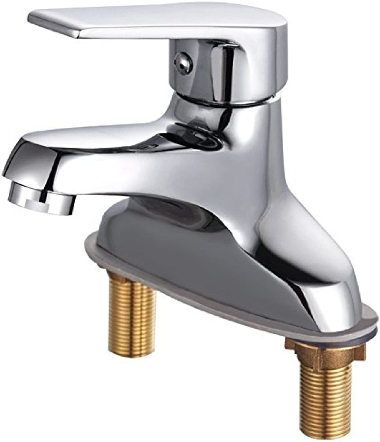 Decorry Basin, Faucet, Hot and Cold Basin, Faucet, Double Hole Basin, Cold and Hot Water Faucet Ceramic Disc Spool,B