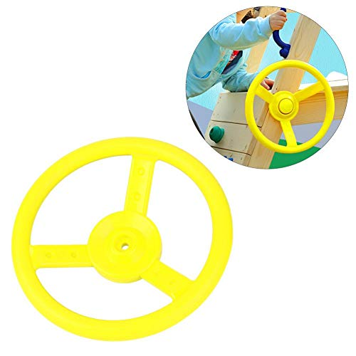 Alomejor Kunststoff Lenkrad Kinderspielplatz Kleines Lenkrad Spielzeug Für Kinder Klettergerüste Baumhäuser Hinterhof Spielset(Gelb)