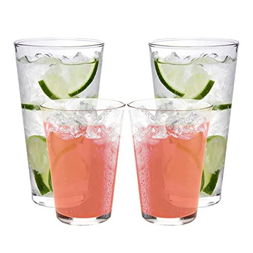 Vasos irrompibles | Vidrio al aire libre | 2 tamaños: 12 onzas y 16 onzas | Copas de beber sin BPA | Vasos de plástico aptos para lavavajillas | Vasos de Tritan 100%