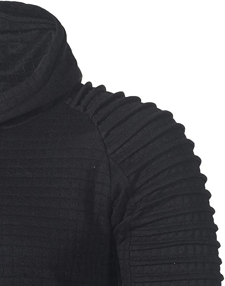 Aayomet Mens Shirts Fashion Solid Long Sleeve Round Neck Sweatshirts for Men Workout Sport Casual Hoodies