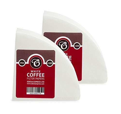 EDESIA ESPRESS - Kaffee-Filtertüten - Weiß - V02-200 Stück - kompatibel mit Hario V60 02