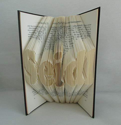 gefaltetes Buch, personalisierbar mit