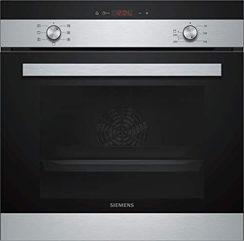 Siemens EQ112KA0ZM iQ100 Backofen-Kochstelle-Kombination / A / 59,4 cm / Flachrahmen / granit-Glanz Emaille / Schnellaufheizung