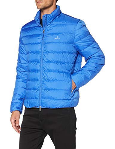 GANT The Light Down Jacket Chaqueta, Azul Fuerte, S para Hombre