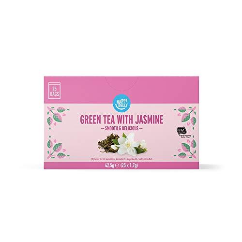 Amazon Brand - Happy Belly Green Tea with Jasmine (25 Tea Bags)