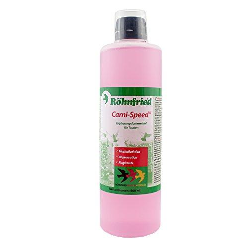Röhnfried - Carni-Speed Konzentrat (10 ml/Liter Trinkwasser) | Mit L-Carnitin für den Fettstoffwechsel der Tauben | Regeneration & Flugfreude (500 ml)