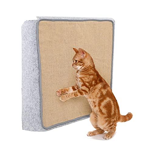 WOTEG Alfombrilla para arañazos de gato, 15 x 36 pulgadas, grande, sisal natural, gato horizontal, protege sillas, alfombras y sofás