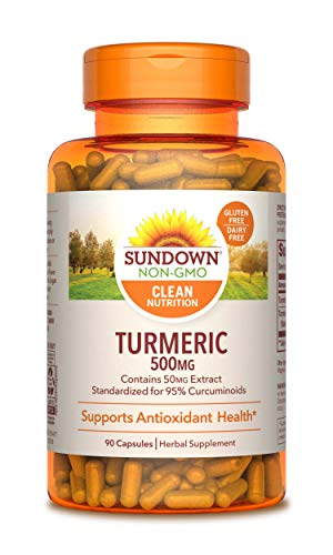 Sundown Turmeric Curcumin 500 mg, 90 Capsules, Multi