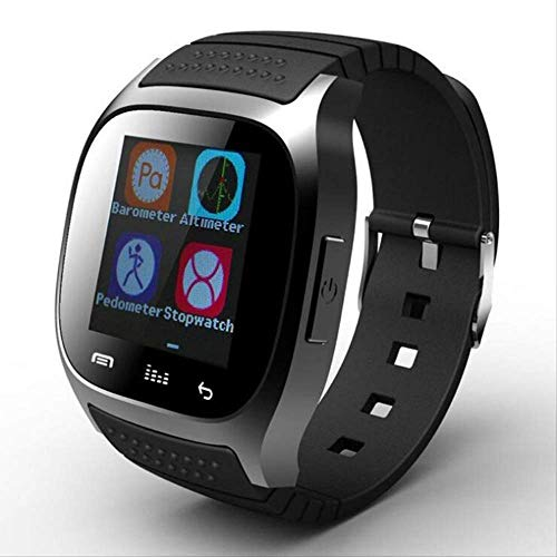 SQSHWL Impermeable M26 Bluetooth Reloj Inteligente Pantalla Impermeable Diaria Led para teléfono Android como se Muestra en Negro