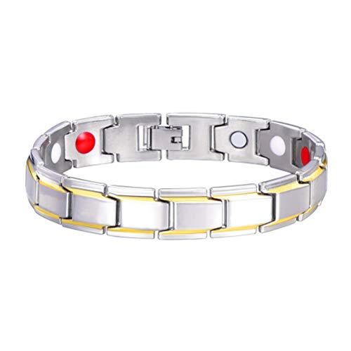 Titanium Stahl Magnetische Armband Einsgut Gesundheit Energie Armreif Für Arthritis Mit Ferninfrarotstrahl Germanium Pulver Neodym Magnet Negativ Ionen