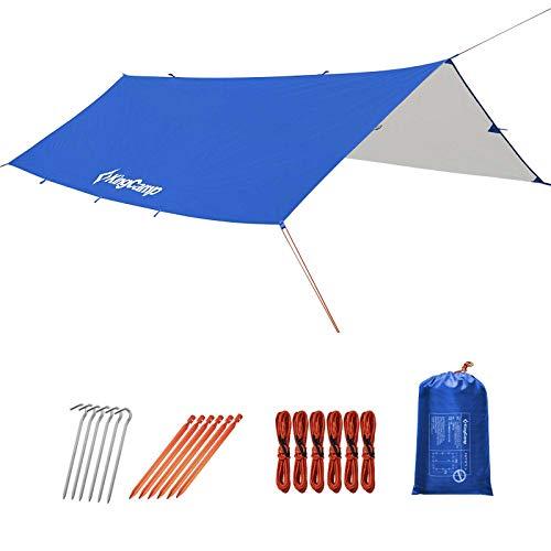 KingCamp Tenda Parasole da Campeggio Impermeabile Tarp Telone 300x400cm Anti-UV Pieghevole Portatile Telone da Campeggio Protettiva del Sole per Campeggio Giardino Terrazza Picnic BBQ Spiaggia