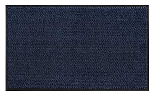 andiamo Schmutzfangmatte, Fußmatte aus Polypropylen – Indoor/Outdoor geeignet - in 90 x 150 cm Blau – 5 mm Höhe