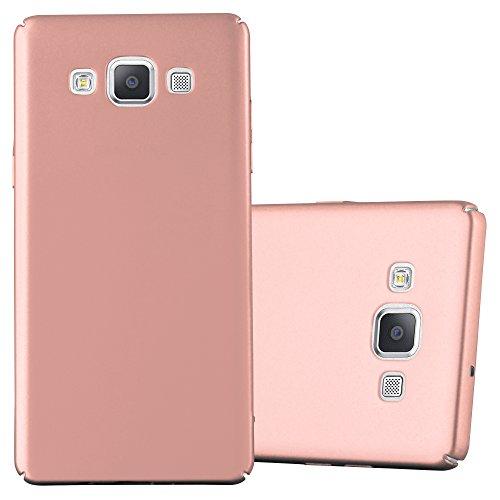 Cadorabo Hülle für Samsung Galaxy A5 2015 (5) - Hülle in Metall Rose Gold – Hardcase Handyhülle im Matt Metal Design - Schutzhülle Bumper Back Case Cover