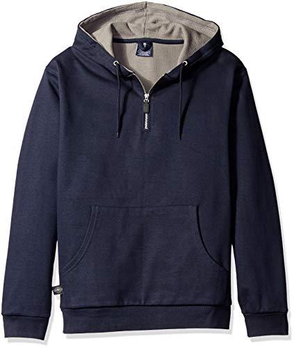 Charles River Apparel Men#039s Tradesman Thermal Quarter Zip Sweatshirt Reg amp Ext Sizes Navy XL
