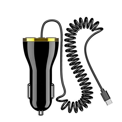 Cargador Coche Cargador de automóviles USB con Enchufe Tipo C para el Cable iOS para i-Phone Samsung Xiaomi Cargadores de automóvil Tipo-C Compatible con Android e iOS