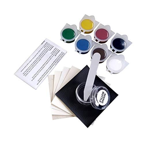 Kit de reparación de Vinilo sin Calor, Herramientas de reparación de Cuero multifunción para el Asiento del automóvil, Grietas, rasgaduras y Abrigos de sofá, rasguños, Agujeros (Multicolor)