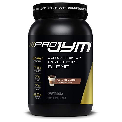 Pro JYM Protein Powder - Egg White, Milk, Whey Protein Isolates & Micellar Casein | JYM Supplement Science | Chocolate Mousse Flavor, 2 lb