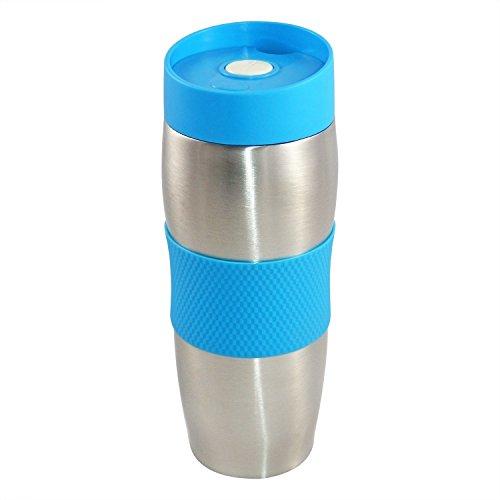 CENOCCO CC-6000 - Mug Isotherme - 380 ml - Couvercle amovible - Bleu