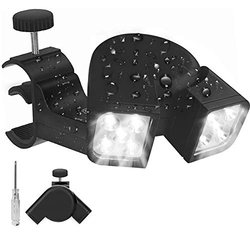 Parrilla luz LED Barbacoa parrilla luz con interruptor táctil ajustable mango montaje para acampar al aire libre negro camping luz