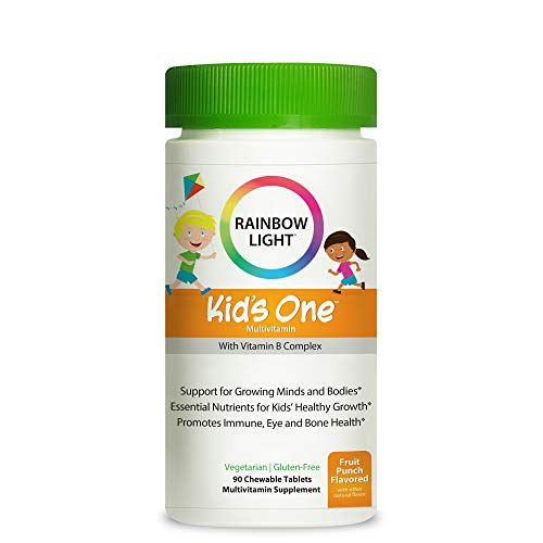 Rainbow Light Kids One Multivitamin With Vitamin B Complex, Fruit Punch Flavor - 90 Tablets (Package May Vary)
