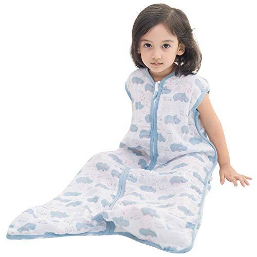 TADO MUSLIN Baby Sleeping Sack 100% Organic Cotton Toddler Wearable Blanket (2-4T)