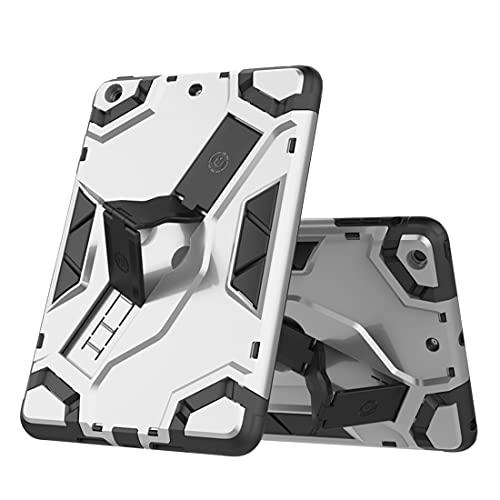 WANTONG Funda de Piel para Tablet PC Caja de la Tableta para iPad Mini 1 2 3, TPU + PC Cubierta Protectora multifunción a Prueba de Golpes con asteroide Plegable (Color : Gray)