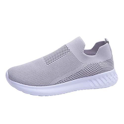 Zapatillas de Mujer Deportivas Running Verano 2020 PAOLIAN Zapatillas Mujer Deporte Fitness sin Cordones Baratas Zapatos de Mujer Caminar Trekking Vestir Cómodos Sneaker Transpirable