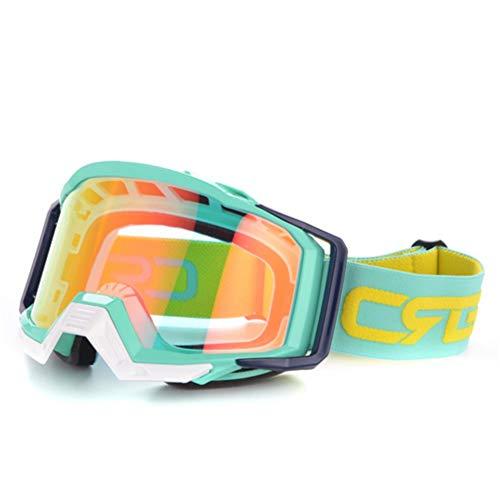 NZMAOZI Motorradbrille Motocross-Helm-Schutzbrillen Für ATV MTB Dirt Bike Motorrad Dirt Bike Brillen Ski Sportbrillen Masque Moto Gläser,G,EIN