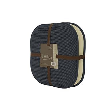 GoodGram Non Slip Ultra Comfort Memory Foam Chair Pads - Assorted Colors (Charcoal), 2 Pack