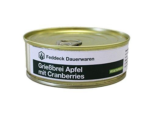 Fertiggericht Dose Grießbrei mit Apfel und Cranberries 200 g, VEGETARISCH